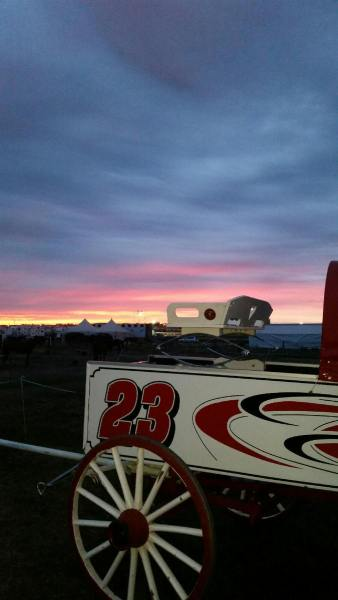 The Sun Sets on the Bonnyville 2015 Chuckwagon Races