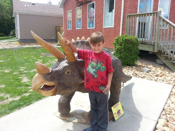Coy an the Triceratops