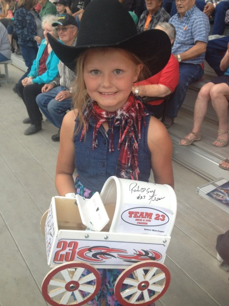 A proud recipient of the mini chuckwagon giveaway