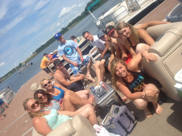 Pontoon Party at the Lake