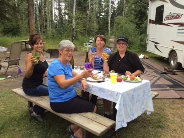 Glamping at Twin Lakes with the Gals