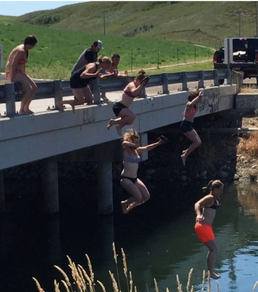 Canal Bridge Jumping