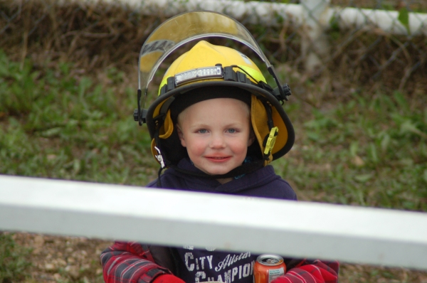 A Wee Fireman for the Day