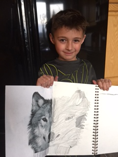 Coy and his artwork