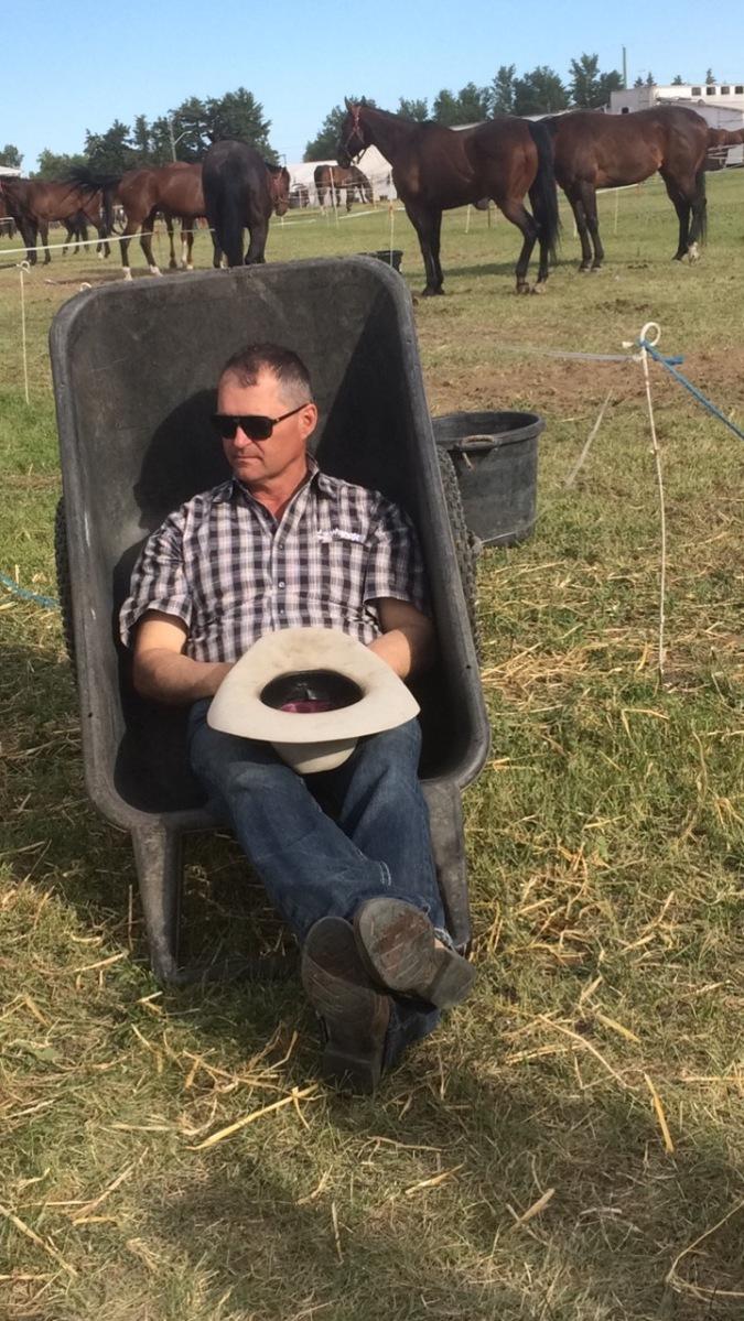 Rick in Wheel Barrow