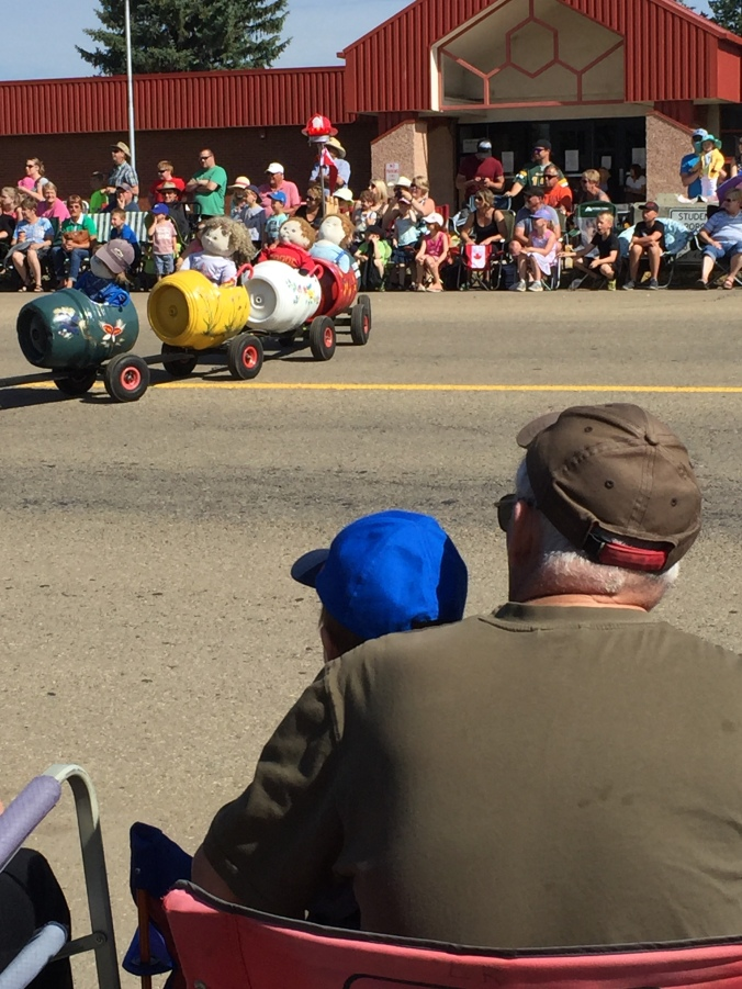 Ryker & Grandpa Les at Ponoka Parade